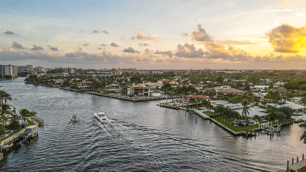 Boca Raton Florida drone photo