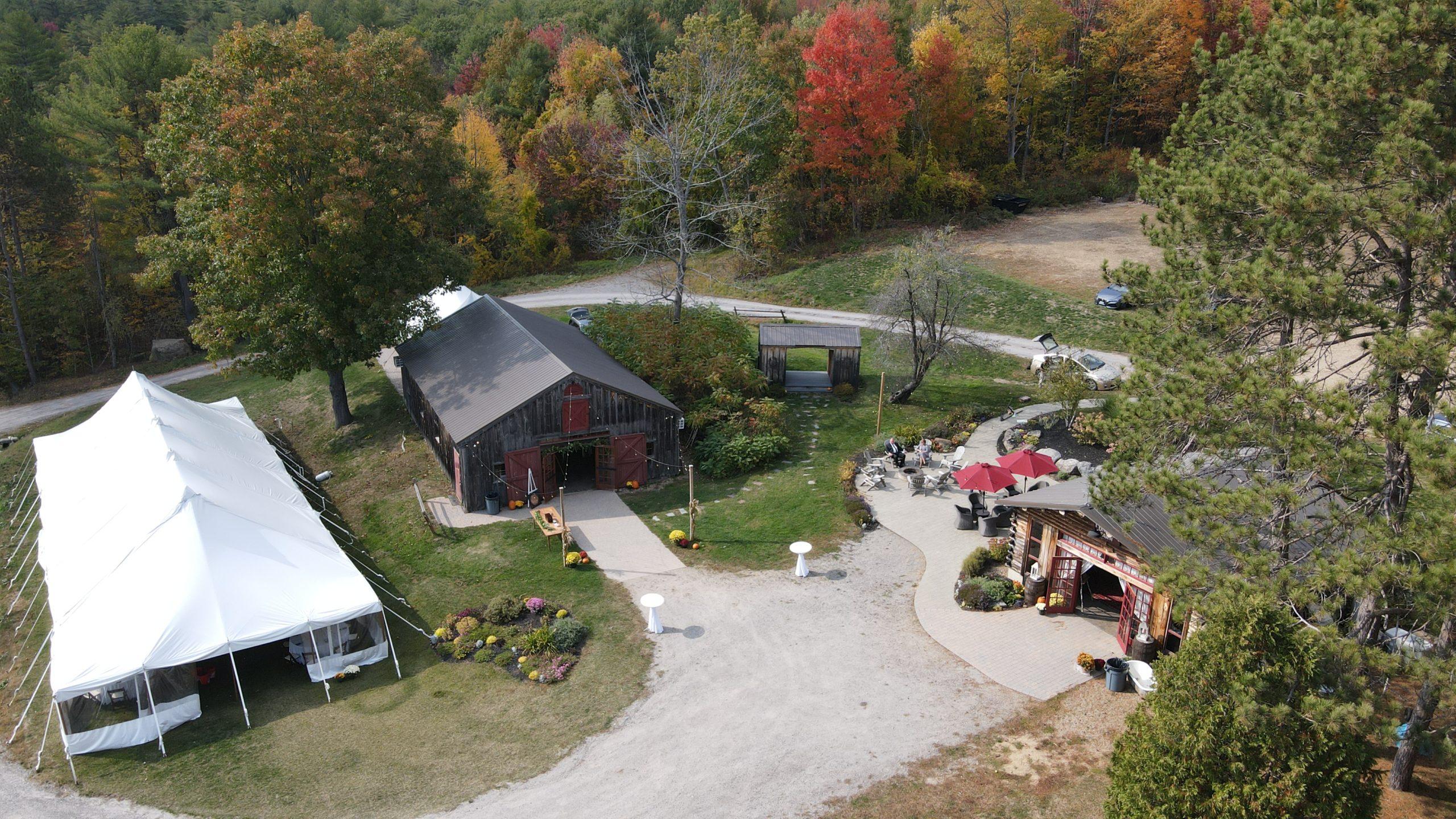 rustic NH barn wedding venue