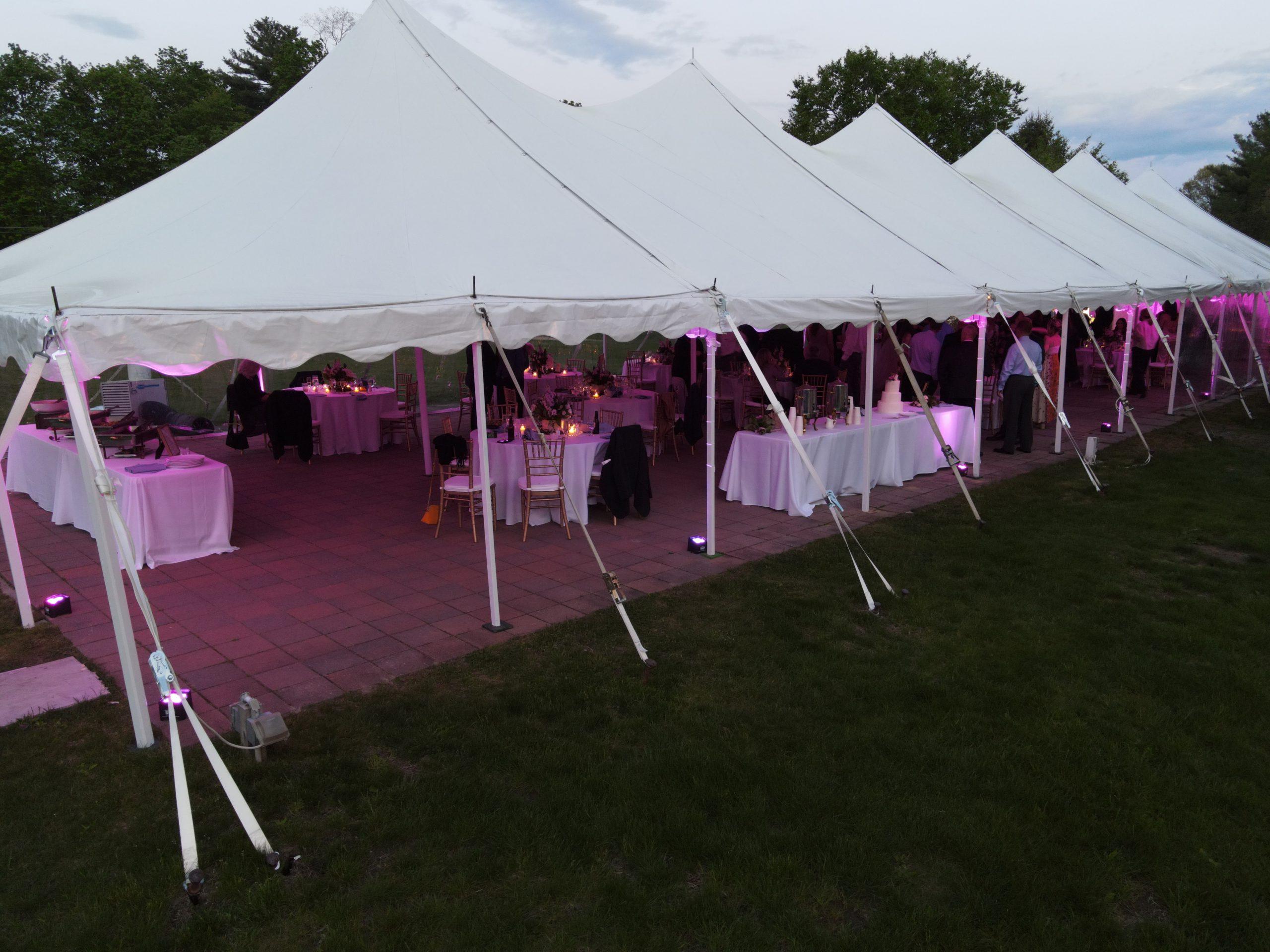 Danversport wedding venue drone photo